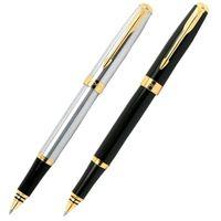 baoer 388 stifte großhandel-Baoer 388 Hohe Qualität Silber Und Goldenen Clip Roller Kugelschreiber Schulbedarf Heißer