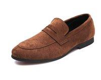 italya elbise ayakkabıları toptan satış-Erkek vintage Moda İngiliz sivri süet ayakkabı Homecoming Elbise Ayakkabı İtalya Stil Adam Düğün Ayakkabı zapatos hombre vestir