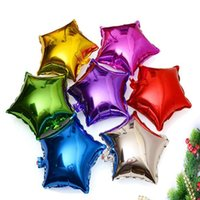 Wholesale inflatable party decoration star resale online - Christmas Helium Balloon star Wedding Large aluminum Foil Air Balloons Inflatable gift Birthday Party Decoration inch