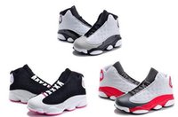 Wholesale youth basketball shoes cheap - New Cheap Air Retro 13 Kids Basketball Shoes Children 13s High Quality Sports Shoes Youth Boy Girl Basketball Sneakers For Sale US11C-3Y