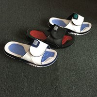 Wholesale men sports sandals - Wholesale new 11 slippers red black white sandals Hydro Slides basketball shoes casual running Sports sneakers size 7-11