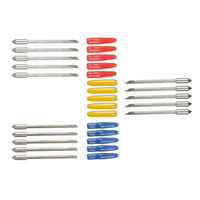 vinil kesiciler çizicileri toptan satış-Yeni yüksek kaliteli Graphtec CB09 5-piece kesici bıçak vinil kesim plotter Kolu Çapı: 1mm Toplam Uzunluk: 20mm