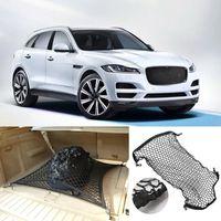 For Jaguar F-TYPE Car Auto vehicle Black Rear Trunk Cargo Baggage Organizer Storage Nylon Plain Vertical Seat Net