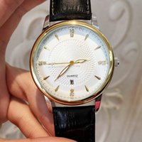 Wholesale reloj sport hombre for sale - Group buy 2018 Fashion man Leather Watches with date Luxury Classic Quartz Watch Rose gold black color Sport Wristwatches Orologio uomo Reloj hombre