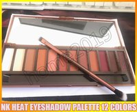 Wholesale Refill Brush - NEW Heat Palette HEAT Eye Shadow Palette 12 colors Eyeshadow Makeup Cosmetics set with brush DHL