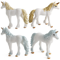 Wholesale desktop doll online - Creative Plastic Cement Unicorn Design Doll Colorful Pegasus Style Home Desktop Decoration Animal Model Kids Novelty Toys Hot Sale xd Z
