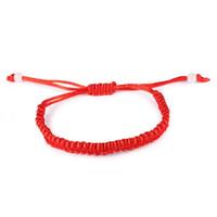 joyeria tibetana para mujer al por mayor-1 UNIDS Rojo Budista Tibetano Buena Suerte Encanto Pulseras Tibetanas Brazaletes Joyería Para Mujeres Hombres Nudos Hechos A Mano Pulsera de Cuerda JOB004