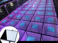 ingrosso luce del pavimento principale di cerimonia nuziale-50 * 50cm Specchio 3D Led Dance Floor Light con controllo SD Led Stage Effect Light Stage Pannello luci discoteca DJ Party Lights Wedding Decor