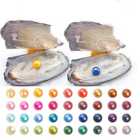 Wholesale diy kids party - 2018 New DIY Freshwater Oyster with AAA Grade 6-7 mm Multicolor Round Pearl Party Fun with Friends and Kids Speical Gift