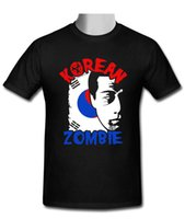 Wholesale zombies t shirt - Biker T Shirts Crew Neck Short New The Korean Zombie Chan Sung Jung black T-shirt Size S-3XL Office Mens Tee