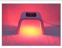 белое освещение кожи оптовых-Портативный OMEGA Light LED Омоложение кожи 4 Цвета Лица Тела Света Фототерапия Лампы Уход За Кожей Лица Машина Омоложения Лица Оборудование Для Красоты