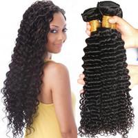 Wholesale price mongolian hair weave for sale - Group buy Dyeable Peruvian Malaysian Mongolian Hair Products Brazilian Virgin Hair Deep WaveHuman Hair Weave No Tangle Factory Promotion Price