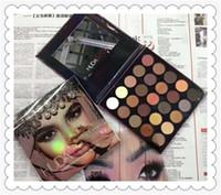 Wholesale Multi Plates - New HUDA 25 color eye shadow fashion earth color matte 25 color eye shadow plate CZ0201152