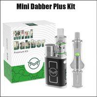 ingrosso casella 35w-Autentico VapMod Mini Dabber Plus Kit 35W TC Box Mod Enail 4.0 Kit vaporizzatore di cera con filtro di vetro Plus Tubi dell'acqua 100%