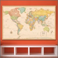 Wholesale modern paintings large size - large size Printing Painting Art Wall Map of the World wall art Home Decor Living Room Modern Canvas Print Paintings no frames