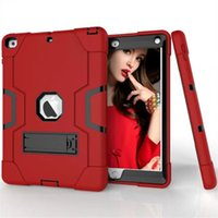 Wholesale For New iPad Case Tablet Pc Case For iPad Robot Kickstand Case Pc Tpu Silicone Hybrid Shockproof Protective Cover