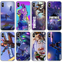 Wholesale iphone plus game case online - Fortnite Phone Cases FPS Game Designer Soft TPU Back Cover for iPhone X XR XS Max s s Samsung Galaxy Note9 Note8 S9 S8plus design