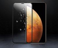 cubiertas curvas iphone al por mayor-Nueva cubierta protectora de vidrio templado 3D Funda amigable con forma de película Película protectora de gorila para iPhone XS MAX