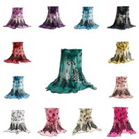 Wholesale unique peacock - 190*45CM Super Long Beautiful Peacock Design Sarongs Women Beach Use Fashion Scarf Unique Style Luxury Gilding Pattern Scarves 5 1lg Z