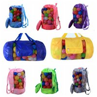 Wholesale beach decorative - 16 Colors 30*58cm Kids Beach Toys Receive Bag Folding Mesh Sandboxes Away All Sand Storage Shell Net Sand Away Beach Bag CCA9514 50pcs