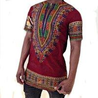 traditionelle lange tops großhandel-Neue Ankunft 2018 Traditionelle Ethnische Harajuku Afrikanischen Kleidung Druck Männlich T-shirt Langarm Hipster Hip Hop t-shirt Männer Tops T
