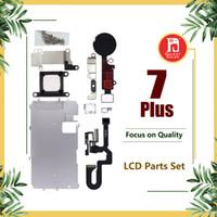 iphone kamera düğmeleri toptan satış-Iphone 7 için Artı LCD Tamir Parçaları Metal Plaka Kiti Ön Kamera Vidalar Kulaklık Ana Düğme Parçaları Set 5.5