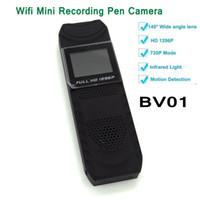 Wholesale Novatek Mini - Body Worn Camera BV01 Wifi Meeting Pen Camera HD 1296P Novatek 96650 Mini DV Pocket Camera Portable Video Voice Recorder ann