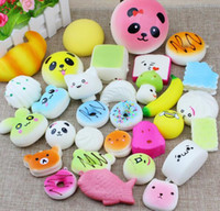 Wholesale Toys Price - 10 20 30 Pack Squishies Simulation Toys Donut Bread Panda Squishies Phone Straps Best Wholesale Price
