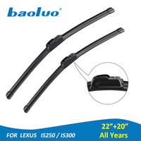 "Wholesale Lexus Auto Parts - BAOLUO 1 Pair Windshield Wiper Blades For Lexus IS250 IS300 22""+20"" Rubber Windscreen Wipers Auto Parts Car Accessories"