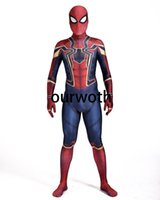 Wholesale 3d Movie Iron Man - Homecoming Iron Spiderman Costume 3D Print Cosplay Comic Iron Spider-man Costume Custom Made Available