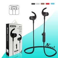 Wholesale wireless sweatproof headphones - MS-T3 Bluetooth Headphones Sweatproof Sports Running Earphone Wireless Headset TF Card Magnetic attraction Earbuds for xiaomi iphone samsung