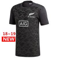 roupas pretas venda por atacado-Todos os Negros Gráfico T Camisa 2018 2019 Nova Zelândia Super Rugby Jerseys 18 19 Todos os Negros jersey roupas Casuais s-3xl