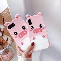 samsung grand prime casos bonitos venda por atacado-Bonito 3d dos desenhos animados rosa porco macio silicone rubber case para iphone x 8 7 6 6 s 5 5S se mais samsung j5 2016 j7 pro 2017 grand prime g530