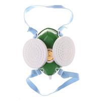 endüstriyel camlar toptan satış-Tek Parça Filtre Gözlük Gaz Maskesi Endüstriyel Gaz Kimyasal Anti-Toz Sprey Boya Maske Bisiklet Yüz Yüz Maskeleri