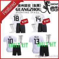 Wholesale Germany Black Jerseys - 2018 world cup GERMANY kids Soccer JerseyS WERNER 11 ADULT KIT SHORTS OZIL KROOS DRAXLER HOME WHITE HUMMELS SOCKS FOOTBALL JERSEY SHIRT