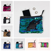 organic makeup - Fashion Glitter Mermaid Sequin Evening Clutch Bag Reversible Sequins Coin Wallet Purse Makeup Storage Bags Women Luxury Party Handbag