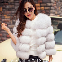 ingrosso bianche eleganti giacche invernali-New Mink Cappotti Donna 2018 Inverno New Fashion Bianco FAUX Cappotto di pelliccia Elegante Tuta Capispalla calda Pelliccia falsa Giacca Chaquetas Mujer