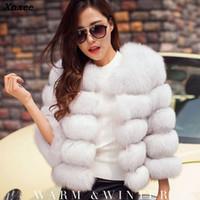 beyaz şık kış ceketleri toptan satış-Yeni Vizon Palto Kadınlar 2018 Kış Yeni Moda Beyaz FAUX Kürk Ceket Zarif Kalın Sıcak Giyim Sahte Kürk Ceket Chaquetas Mujer