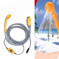 Wholesale electric car tools for sale - Mini Camping Caravan Sprinkler Hiking Travel Pet Shower Pump Pipe Kit Electric Car Plug Portable Outdoor Camper Washer Tools zj ZZ