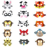 tier wolf maske großhandel-20 Stil Kid Animal Mask fühlte Partei Maske Panda Fox Cow Tiger graue Wolf Maske Halloween Weihnachten Kostüme Maskerade Masken Partei bevorzugt Geschenke