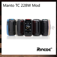 Wholesale box panels for sale - Rincoe Manto W TC Box Mod With D UI Feeling inch TFT Color Screen Near Instantaneous Firing Speed of s IML Panel Original