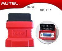 adaptador nissan obdii venda por atacado-Original para Autel Maxidas DS708 OBDII Conector Para Ferramentas de Diagnóstico 708 16pin OBD 2 OBD-II Adaptador Adaptador OBDII Obd2 Autel
