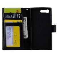 couro compacto z5 venda por atacado-50 pçs / lote frete grátis macio tpu + pu carteira de couro case para sony xperia x compacto / xz / z5 / z5 mini / e5 / xa ultra c6