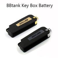 Wholesale Usb Battery Box - Authentic BBtank Key Box Battery 350mAh Vape Mod 3.7V Battery Fit 510 Glass Cartridges Vaporizer Within Hidden USB Charger Gold & Silver