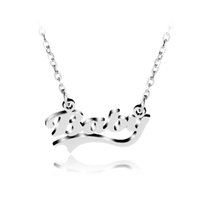 """Wholesale Party Babys - Baby Initial Necklace Fashion Letter Necklace """"Baby"""" Monogram Pendant Necklace Factory Direct Babys Jewelry For Child Birthday Gift"""