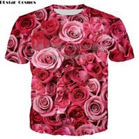 ingrosso dispositivo di raffreddamento del fiore della maglietta-Flower T Shirt Uomo / Donna Sexy Tshirt Hawaiian Streetwear Leaf T-Shirt 3d Stampa Cool Abbigliamento Uomo Estate Casual Topslothing