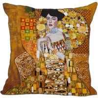 подушки на заказ подушки оптовых-Горячее сбывание Gustav Klimt Поцелуй квадратный наволочка Custom Застежка -молния крышки подушки на молнии