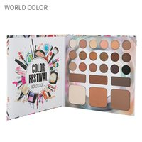 светящиеся блестящие тени для век оптовых-Eyeshadow Palette  Matte Glitter Eyeshadow Pallete High Light Eyebrow   Platter Diamond Shimmer Eye Primer