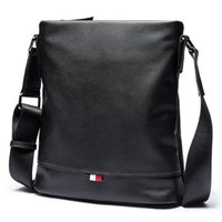 erkek çantası gündelik toptan satış-Erkekler Çanta Crossbody Çanta Omuz Erkekler Messenger Çanta Moda Küçük Rahat Tasarımcı Çanta Adam Çantaları bolsas erkek PU Deri Siyah
