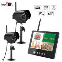 "Wholesale wireless security dvr system - SmartYIBA 9""Inch 2.4GHz Digital Wireless Baby Monitor 4CH CCTV DVR NVR Home Security Camera Surveillance System (2 Camera Kit)"